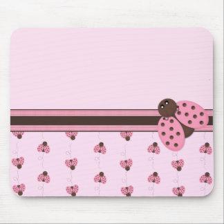 Pink Ladybug Mousepad