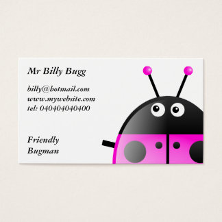 Pink Ladybug, Mr Billy Bugg, Business Card