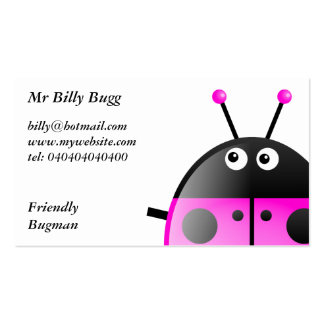 Pink Ladybug, Mr Billy Bugg, Pack Of Standard Business Cards