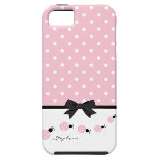 Pink Ladybugs Custom iPhone 5 Case