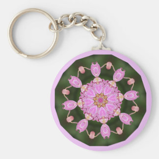 Pink Ladybugs Dancing Queen Bee Pink Orchid Key Ring