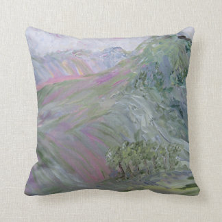Pink Landscape Under Rosy Clouds Cushion