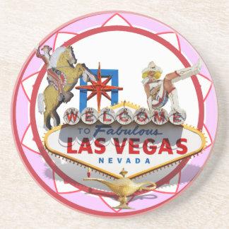 Pink Las Vegas Poker Chip Coaster
