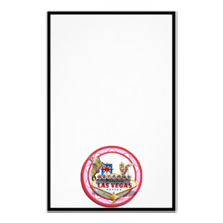 Pink Las Vegas Poker Chip Personalized Stationery