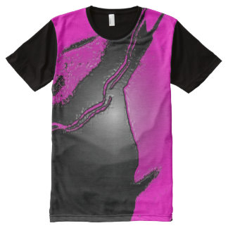 Pink Latex All-Over Printed T-Shirt All-Over Print T-Shirt