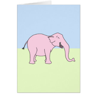 Pink Laughing Elephant. Card