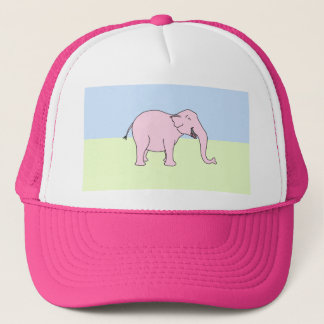 Pink Laughing Elephant. Trucker Hat