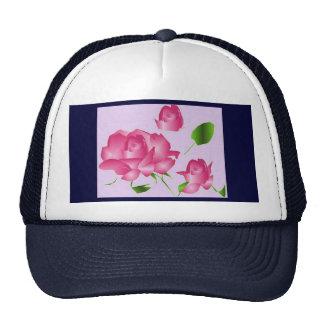 """""""Pink Lavender Rose"""" Hat Mesh Hat"""