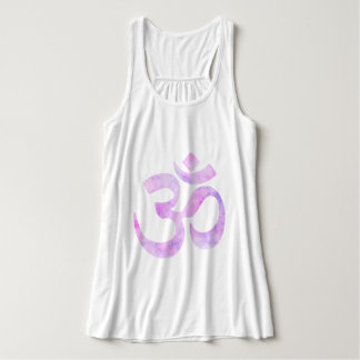 Pink Lavender Watercolor Om Tank Top