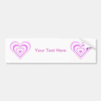 Pink Layered Heart Bumper Sticker
