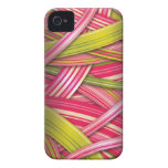 Pink Leaf Flowing Ribbons iPhone 4 Cover