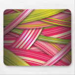 Pink Leaf Flowing Ribbons Mouse Pad