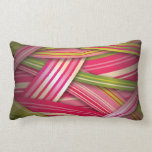 Pink Leaf Flowing Ribbons Pillow