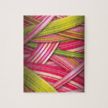 Pink Leaf Flowing Ribbons Puzzle