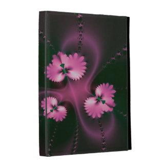 Pink Leaf Fractal iPad Folio Cover