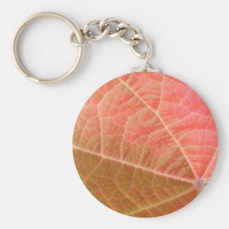 Pink Leaf Keychain