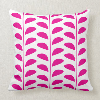 PINK LEAF PRINT CUSHION