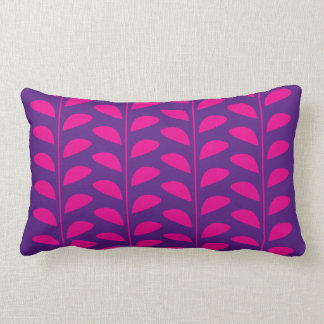 PINK LEAF PRINT LUMBAR CUSHION