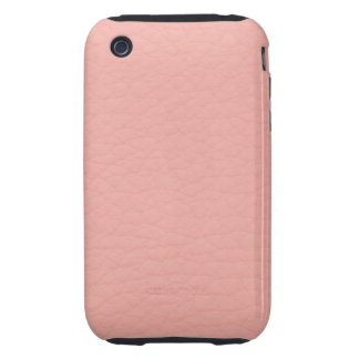 Pink Leather Texture Tough iPhone 3 Cover