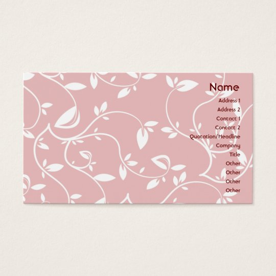 Pink Leaves - Business Business Card