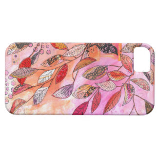 pink leaves iPhone 5 case