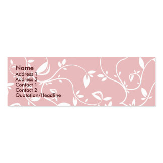 Pink Leaves - Skinny Pack Of Skinny Business Cards