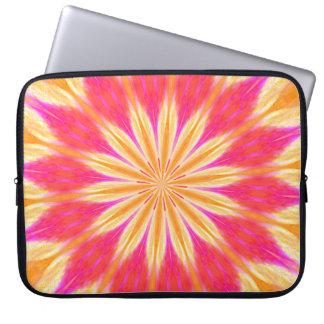Pink Lemon Lily Flower Laptop Sleeve