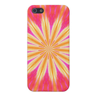 Pink Lemon Lily Flower Medallion iphone4 Case Case For iPhone 5/5S