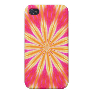 Pink Lemon Lily Flower Medallion iPhone 4/4S Covers