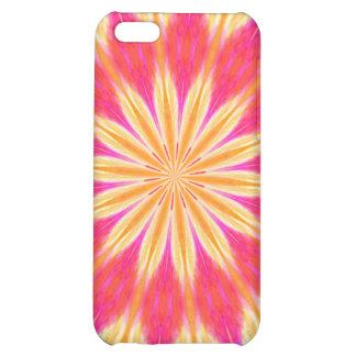 Pink Lemon Lily Flower Medallion Case For iPhone 5C