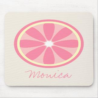 Pink Lemon Slice Personalized Mousepad
