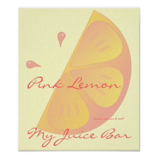 Pink Lemon Slice Poster