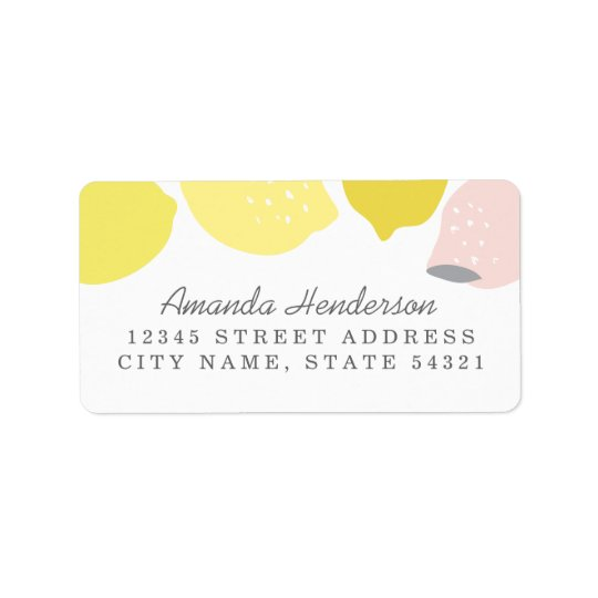 Pink Lemonade Address Label