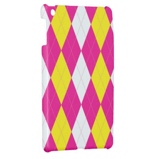 Pink Lemonade Argyle Cover For The iPad Mini