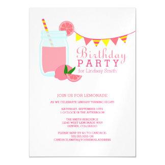 Pink Lemonade Birthday Party Magnetic Invitations