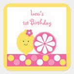 Pink Lemonade Birthday Stickers