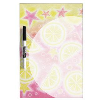 Pink Lemonade 'Bubble' dry erase board w/pen