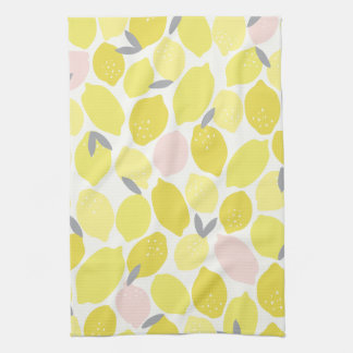 Pink Lemonade by Origami Prints Kitchen Towel