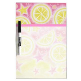 Pink Lemonade dry erase board medium stripe