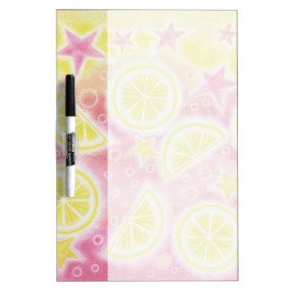 Pink Lemonade dry erase board medium w/pen
