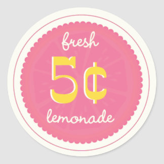 Pink Lemonade Favor Tags Stickers Seals