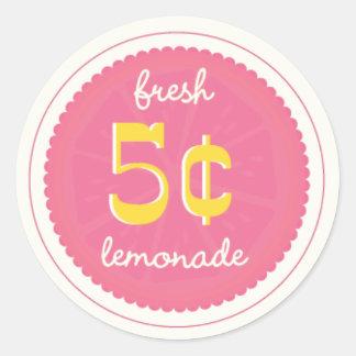 Pink Lemonade Favor Tags Stickers Seals