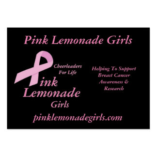 Pink Lemonade Girls Pack Of Chubby Business Cards