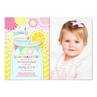 Pink lemonade Invitation Sunshine First Birthday