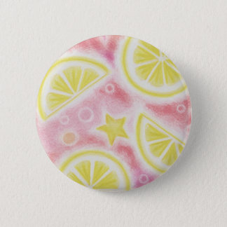Pink Lemonade 'lemons' button badge