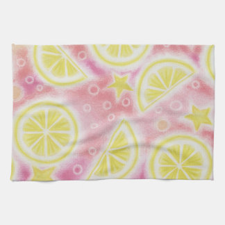 Pink Lemonade 'lemons' kitchen towel