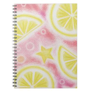 Pink Lemonade 'lemons' notebook