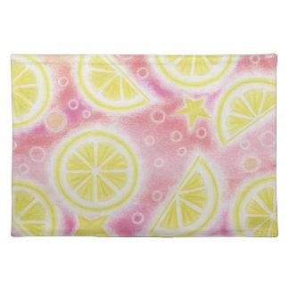Pink Lemonade 'lemons' placemat