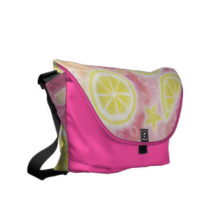 Pink Lemonade messenger bag pink