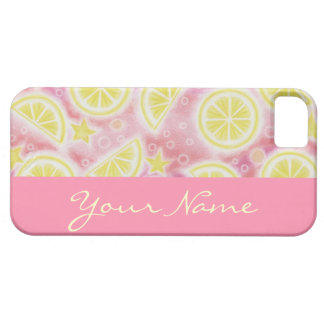 Pink Lemonade 'Name' iPhone 5 barely there pink Case For The iPhone 5